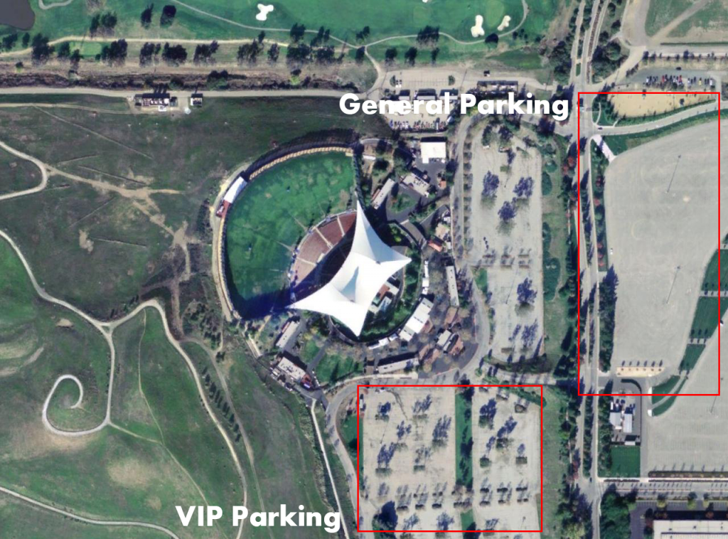 shoreline amphitheater parking