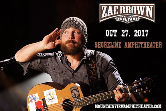 zac brown band tickets 27th october shoreline amphitheatre at mountain view california. Black Bedroom Furniture Sets. Home Design Ideas