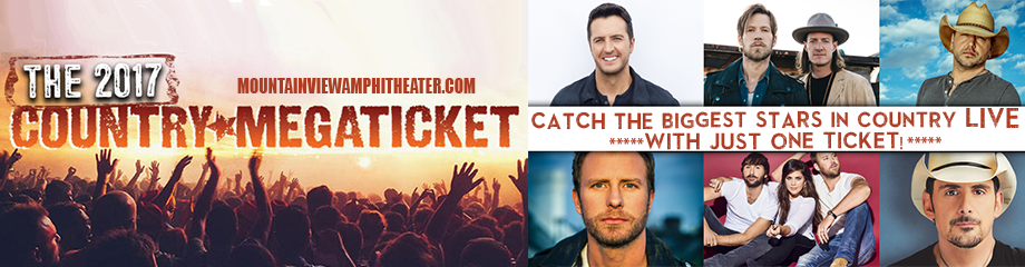 2017 Country Megaticket Tickets (Includes All Performances) at Shoreline Amphitheatre