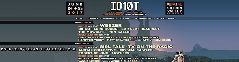 ID10T Festival Day 2: Girl Talk, Zed's Dead & TV On The Radio at Shoreline Amphitheatre