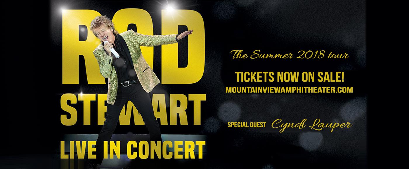 Rod Stewart & Cyndi Lauper at Shoreline Amphitheatre