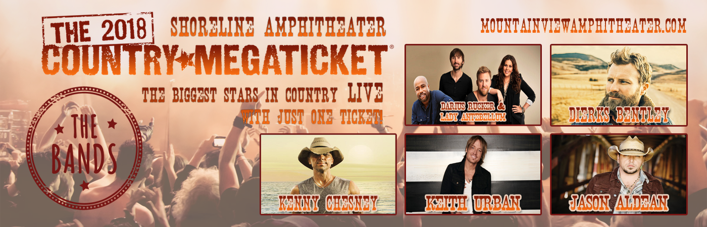 2018 Country Megaticket at Shoreline Amphitheatre