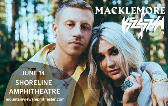 kesha macklemore tickets 14th june shoreline amphitheatre at mountain view california. Black Bedroom Furniture Sets. Home Design Ideas