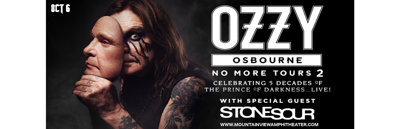 ozzy osbourne stone sour tickets 6th october shoreline amphitheatre at mountain view. Black Bedroom Furniture Sets. Home Design Ideas
