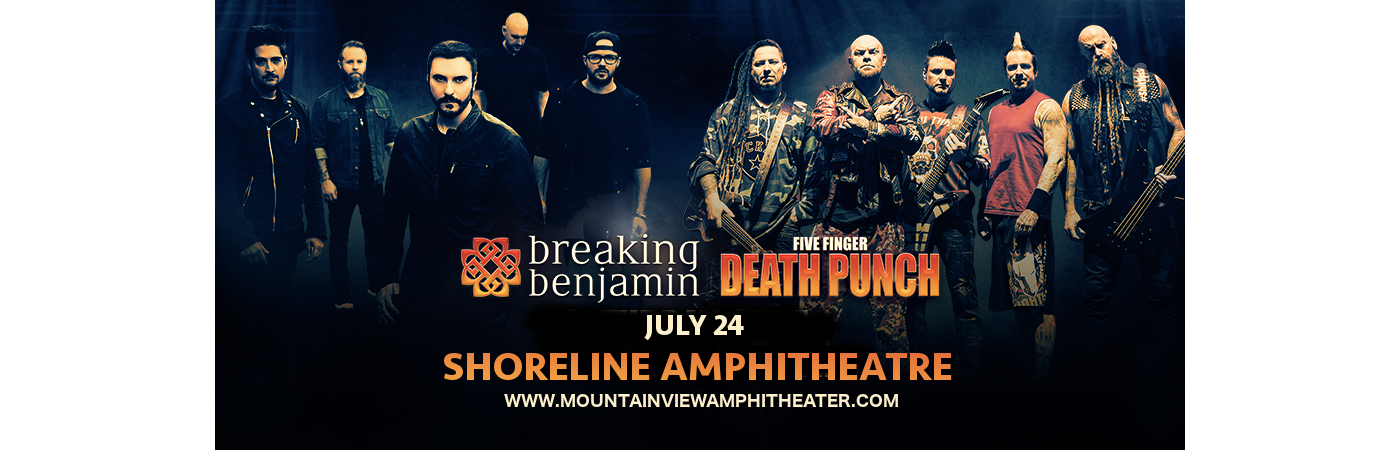 Five Finger Death Punch & Breaking Benjamin at Shoreline Amphitheatre