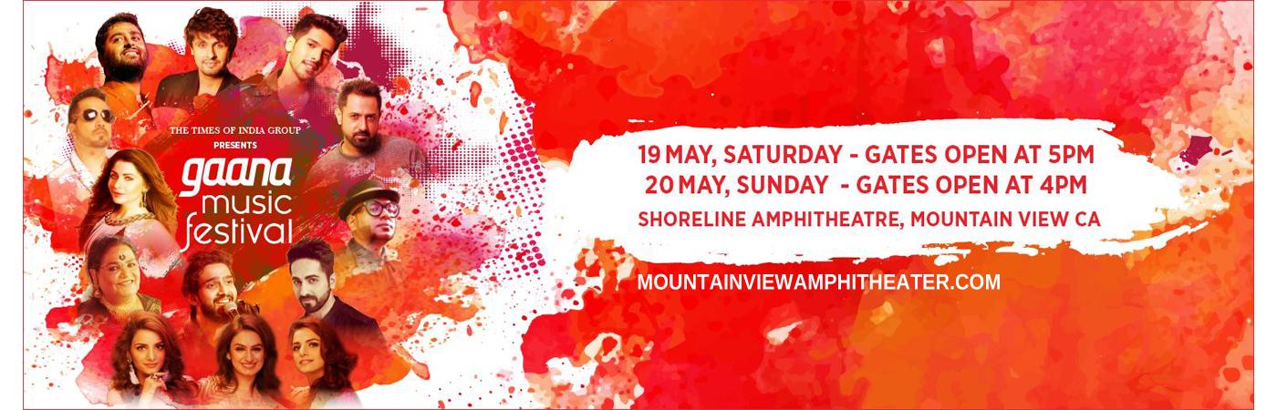 Gaana Music Festival - Saturday Ticket at Shoreline Amphitheatre