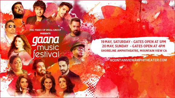 Gaana Music Festival - Saturday Ticket at Shoreline Amphitheatre