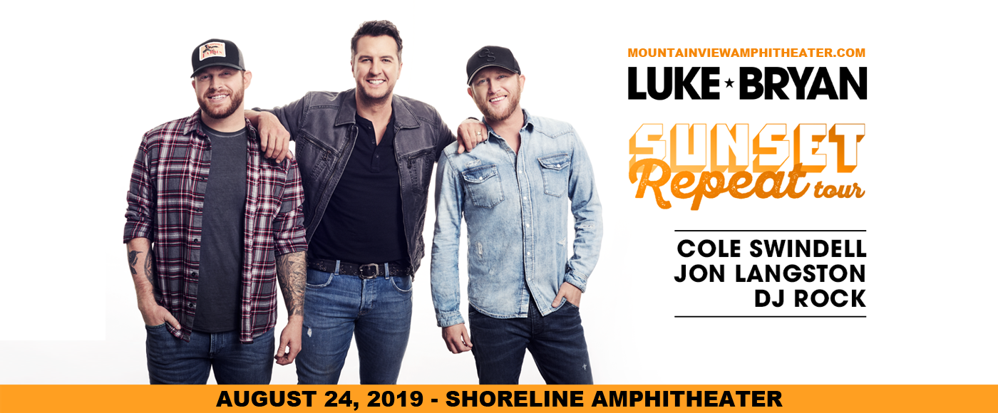 Luke Bryan, Cole Swindell & Jon Langston. at Shoreline Amphitheatre