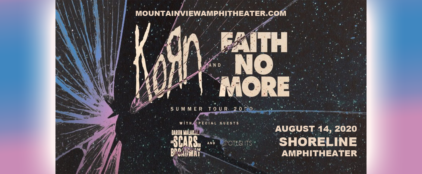 Korn, Faith No More, Scars On Broadway & Spotlights at Shoreline Amphitheatre