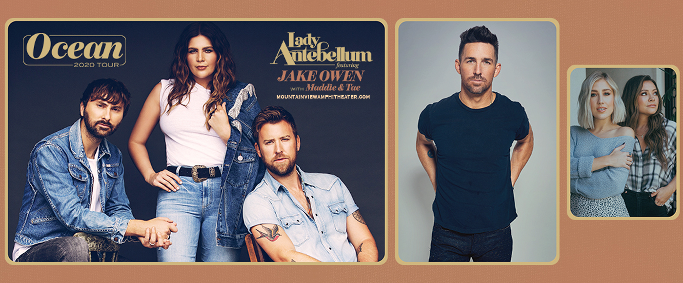 Lady Antebellum, Jake Owen & Maddie and Tae [CANCELLED] at Shoreline Amphitheatre