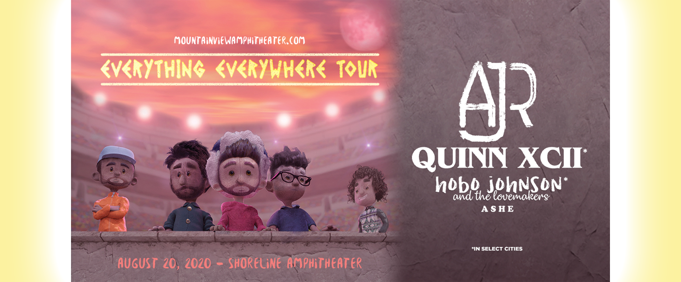 AJR, Quinn XCII & Hobo Johnson and The Lovemakers [CANCELLED] at Shoreline Amphitheatre