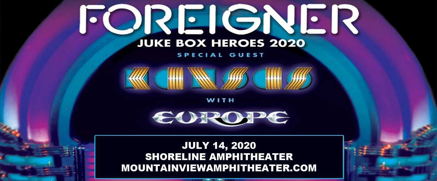 Foreigner, Kansas & Europe [CANCELLED] at Shoreline Amphitheatre