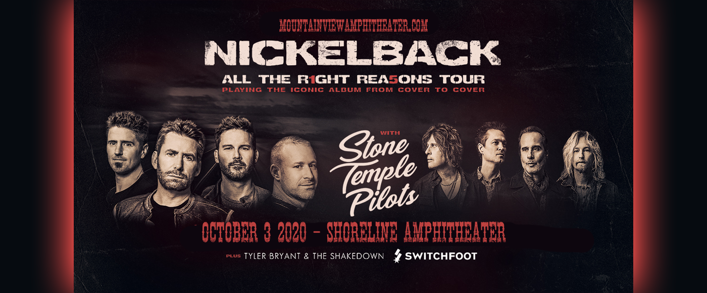 Nickelback, Stone Temple Pilots & Switchfoot [CANCELLED] at Shoreline Amphitheatre