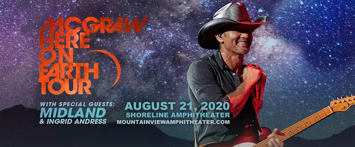 Tim McGraw [CANCELLED] at Shoreline Amphitheatre