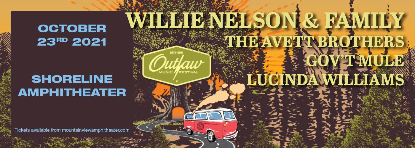 Outlaw Music Festival: Willie Nelson, The Avett Brothers, Gov't Mule & Lucinda Williams at Shoreline Amphitheatre