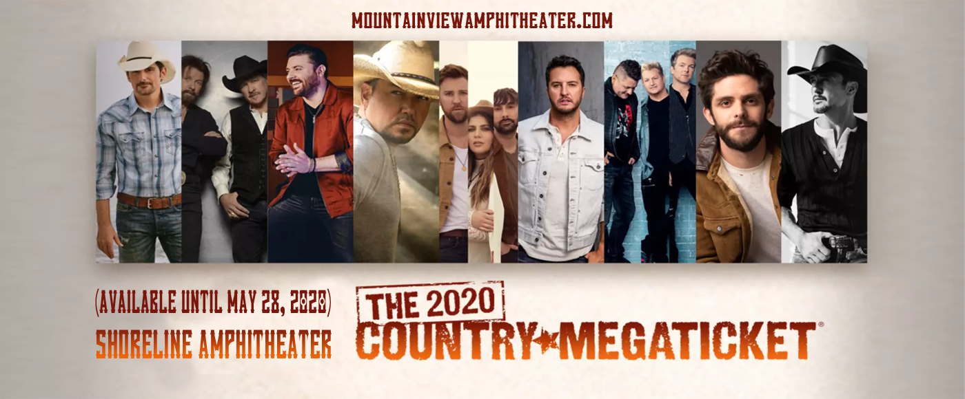 Country Megaticket (Includes Tickets To All Performances) at Shoreline Amphitheatre